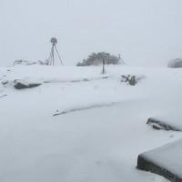 玉山降下4月雪 積雪深達14.5公分 配合防疫 高風險族群禁止登山
