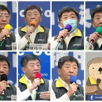 Photo of the Day: Which color will Taiwan's 'Uncle Chen' use today?