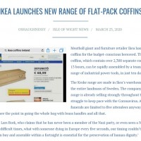 Fake news: IKEA reported to sell coffins amidst soaring coronavirus deaths