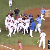 Video shows bench-clearing brawl break out during Taiwan baseball game