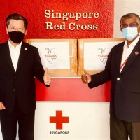 Taiwan's donation of 100,000 masks arrive in Singapore
