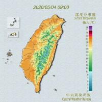 台灣白天高溫均超過30度 氣象局:做好防曬、多補充水分