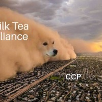 Photo of the Day: Milk Tea Alliance barks for Taiwan