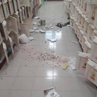 Earthquake destroys urns in E. Taiwan cemetery