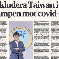 Taiwanese health minister's letter to WHO published in Swedish newspaper