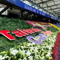 中華職棒首迎球迷現場觀賽 台灣強棒大型花卉裝飾藝術助攻