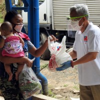 Taiwanese business group donates food in remote area of Philippines