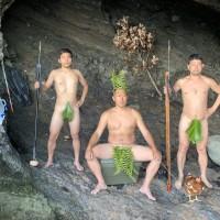 Japanese fishermen camp like cavemen for quarantine