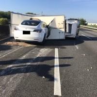 Video shows Tesla on autopilot slam into truck on Taiwan highway