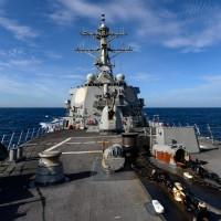 六四31周年》美軍神盾艦拉塞爾號航經台灣海峽