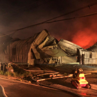Fire strikes Taiwan's Paper Wind Mill Theatre