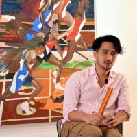 Ex-athlete's 'Starting Point' art exhibition a winner