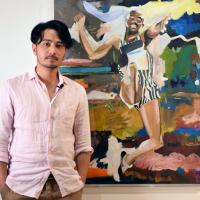 勇往直前!台灣藝術家郭彥甫「起點」展運動員過去 平面繪畫流瀉驚人生命力