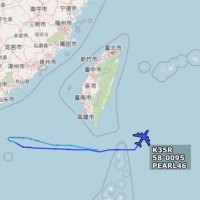 US Stratotanker spotted flying south of Taiwan, near Dongsha Islands