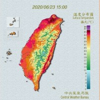 Taipei bakes in 38.4-degree heat, hottest day of year