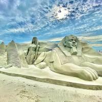 C. Taiwan sand sculpture festival spotlights worldwide landmarks
