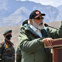 PM Modi visits military base close to China amid standoff