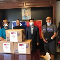Taiwan donates masks to three Native American tribes