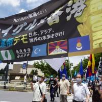 日本東京聯合大遊行  反中團體籲:台日聯手撐香港