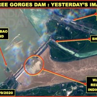 Satellite images show Three Gorges Dam opening all floodgates