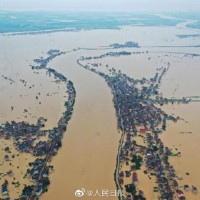 Video shows dike burst on China's largest freshwater lake