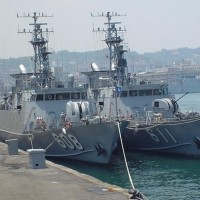 Taiwan Navy chases Chinese spy ships away during war games