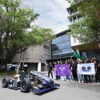 Taiwan's National Tsing Hua University unveils new electric race car