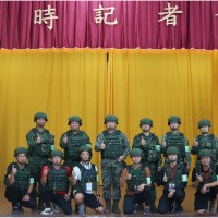 Taiwan Army holds mock wartime press conference