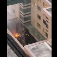 Videos show fire behind Chinese consulate that drew media attention
