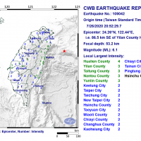 Magnitude 6.1 earthquake jolts East Taiwan