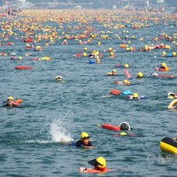 Coronavirus pandemic casts cloud over Central Taiwan's annual lake swim