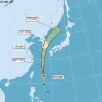 輕颱薔蜜週日凌晨形成 預計週一下午登陸南韓