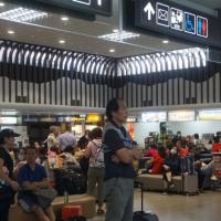 颱風米克拉警報解除 台灣金門機場湧人潮