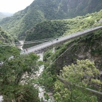 Taroko's Mountain-Moon suspension bridge opens in E. Taiwan