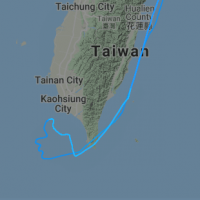 EVA Air flight draws thumbs-up sign on Taiwan map