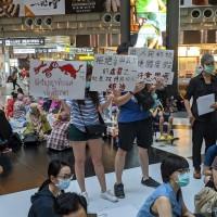 Democracy rally for Thailand, Hong Kong held at Taipei Main Station