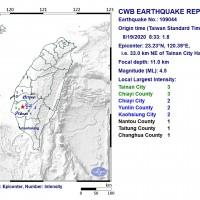 4.5, 4.2 magnitude earthquakes rock southern Taiwan
