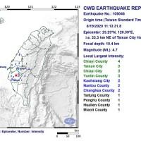 4.7 magnitude earthquake rattles southern Taiwan