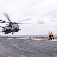 Amphibious assault ship USS America sails east of Taiwan