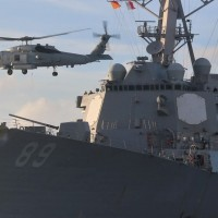 US Navy destroyer passes through Taiwan Strait