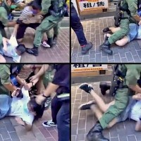 Video of 12-year-old girl tackled by Hong Kong police sparks outrage