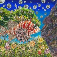 童稚畫筆下的海洋世界 氣候變遷繪畫作品原稿首次移師高雄展出