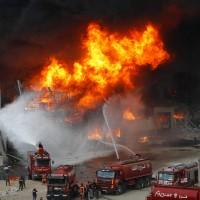 黎巴嫩貝魯特大爆炸後再傳發生大火 民眾驚慌