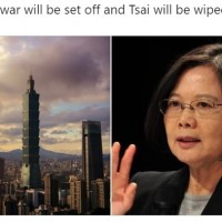 China threatens to 'wipe out' Taiwan president with war