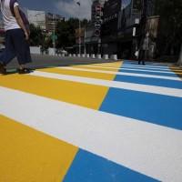 配合2020「台灣設計展」 新竹市斑馬線從黑白變彩色