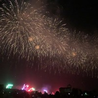 Trial run for Double 10 Day fireworks held in Taiwan's Tainan