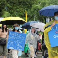 Climate marchers demand action in Taipei