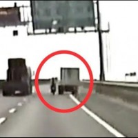 Video shows truck hit motorcycle from shoulder on Taiwan highway
