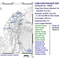 Magnitude 5.9 earthquake strikes northeastern Taiwan