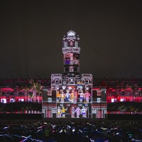 Projection show opens at Presidential Office to celebrate Taiwan's National Day